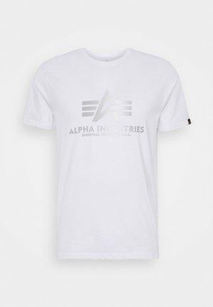 BASIC REFLECTIVE - T-shirt med print - white