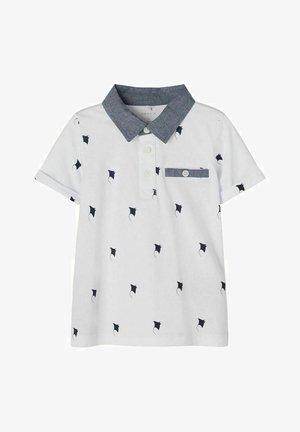 Poloshirt - white/dark grey