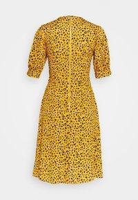 Closet - CLOSET PUFF SLEEVE VNECK DRESS - Day dress - mustard - 1