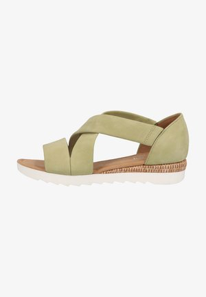 Sandály - pistazie