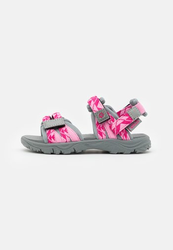2 IN 1 UNISEX - Walking sandals - pink/light grey