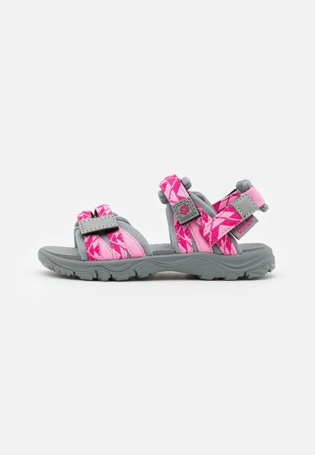 2 IN 1 UNISEX - Trekkingsandale - pink/light grey