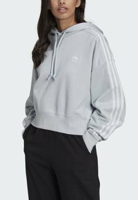 adidas Originals - ADICOLOR CLASSICS CROP HOODIE - Hættetrøjer - blue - 3