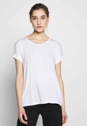 ANIKA FOLD UP TEE - Basic T-shirt - white