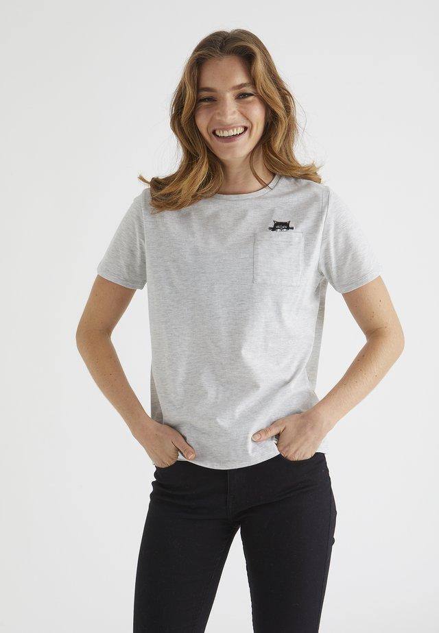 FLEUR  - Camiseta estampada - grey