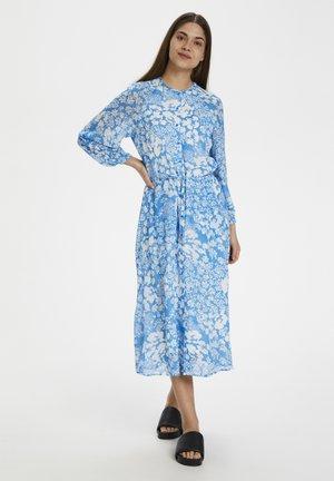 Shirt dress - light blue poetic flower