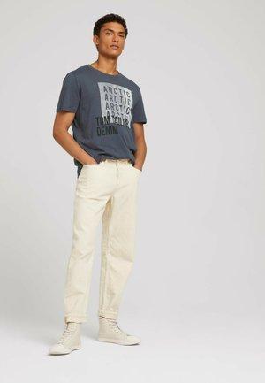 Print T-shirt - blueish grey