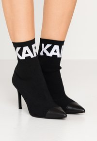 KARL LAGERFELD - COLLAR ANKLE  - Bottines à talons hauts - black - 0