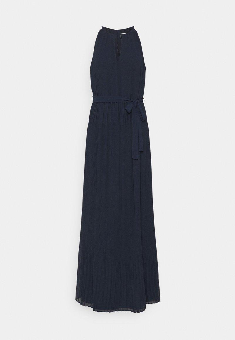 VILA TALL - VIKATELYN HALTERNECK DRESS - Robe longue - navy blazer