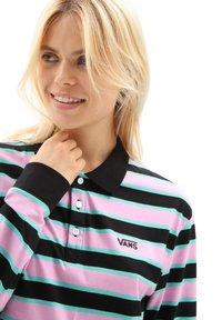 Vans - WM STRIPE POLO DRESS - Jersey dress - black - 2