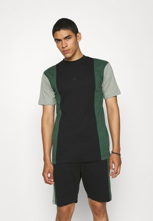VERTICAL BLOCK UNISEX - Print T-shirt - black