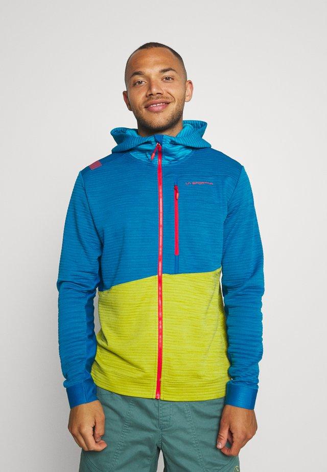 TRAINING DAY HOODY - Zip-up hoodie - neptune/kiwi