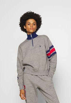 LONG SLEEVE HALF ZIP - Sweatshirt - dark vintage heather