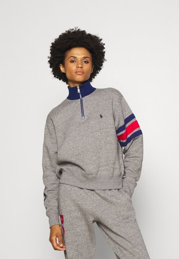 LONG SLEEVE HALF ZIP - Sweater - dark vintage heather