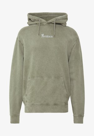 WASHED PRIMARY - Kapuzenpullover - khaki