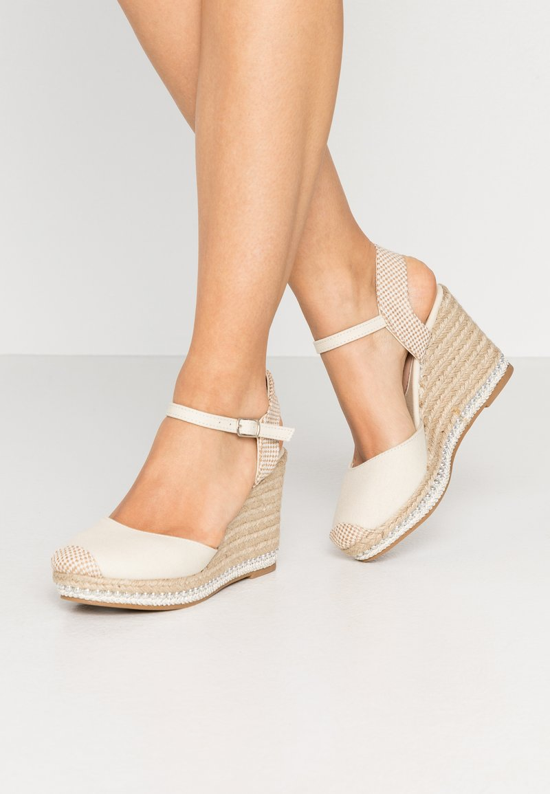 New Look - TUSCANY - High heeled sandals - offwhite