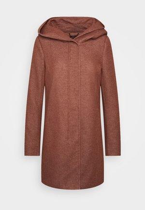 Krátký kabát - chocolate fondant melange