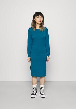 LONG SLEEVE SPLIT SIDE MIDI DRESS - Žerzejové šaty - ink blue