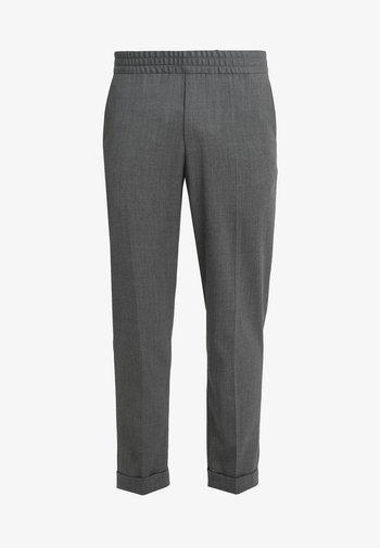TERRY CROPPED PANTS - Pantaloni - grey melange