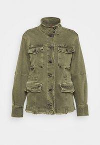 HARLEY MILITARY  - Denim jacket - army