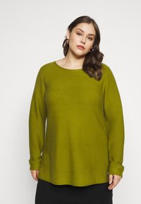 MY TRUE ME TOM TAILOR - STRUCTURED - Jumper - wood green - 0