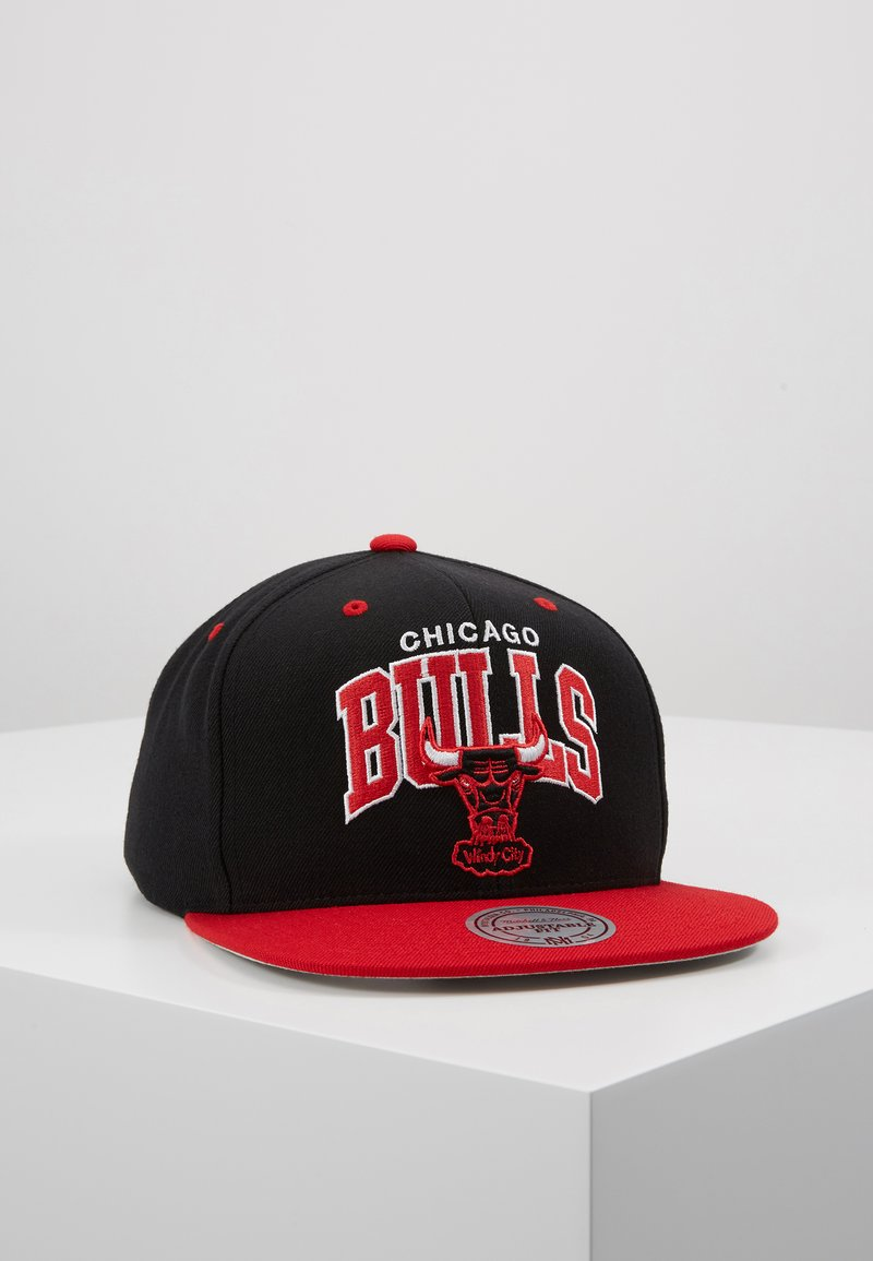 Mitchell & Ness - NBA CHICAGO BULLSTEAM ARCH TONE SNAPBACK - Keps - black/red