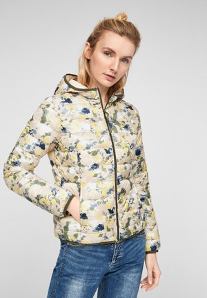 MIT ALLOVER-MUSTER - Winter jacket - beige aop