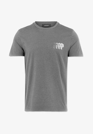 GROUND TEE - T-shirts print - grey/white logo