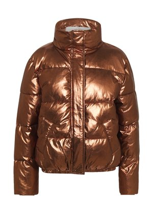 PADDED METALLIC JACKET - Winterjas - bronze