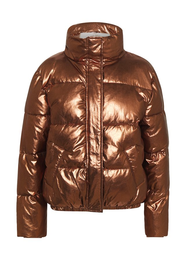 PADDED METALLIC JACKET - Zimní bunda - bronze