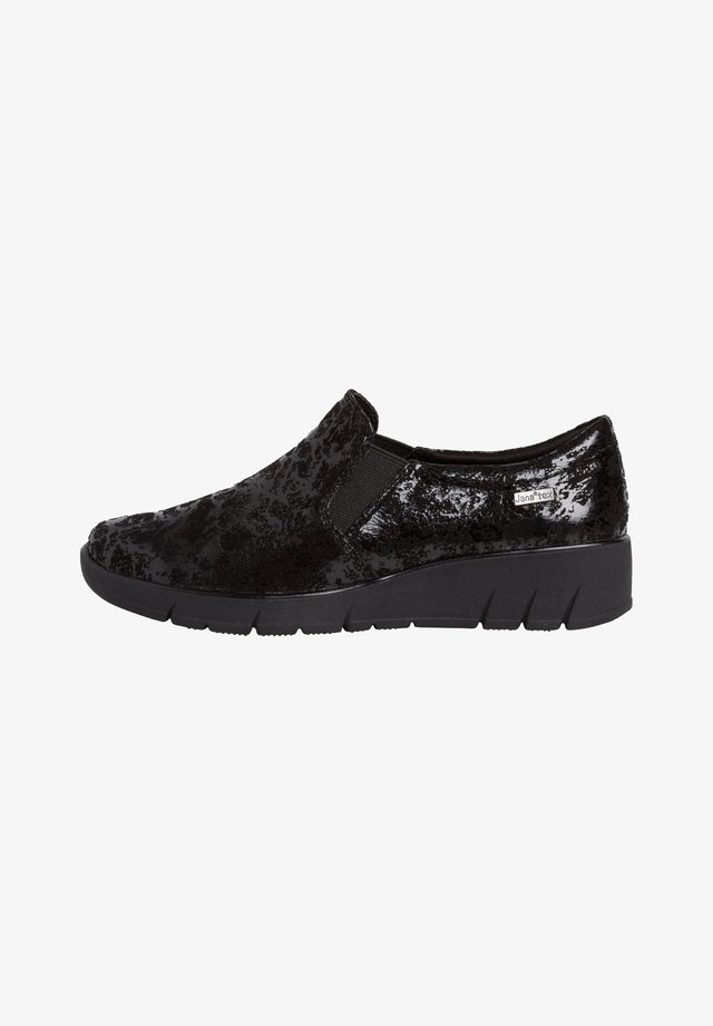 SLIPPER - Mocassins - black structur