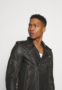 Tigha - NEVAN - Leather jacket - vintage black - 3