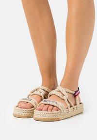 KARL LAGERFELD - RAPALLA  - Platform sandals - beige - 0