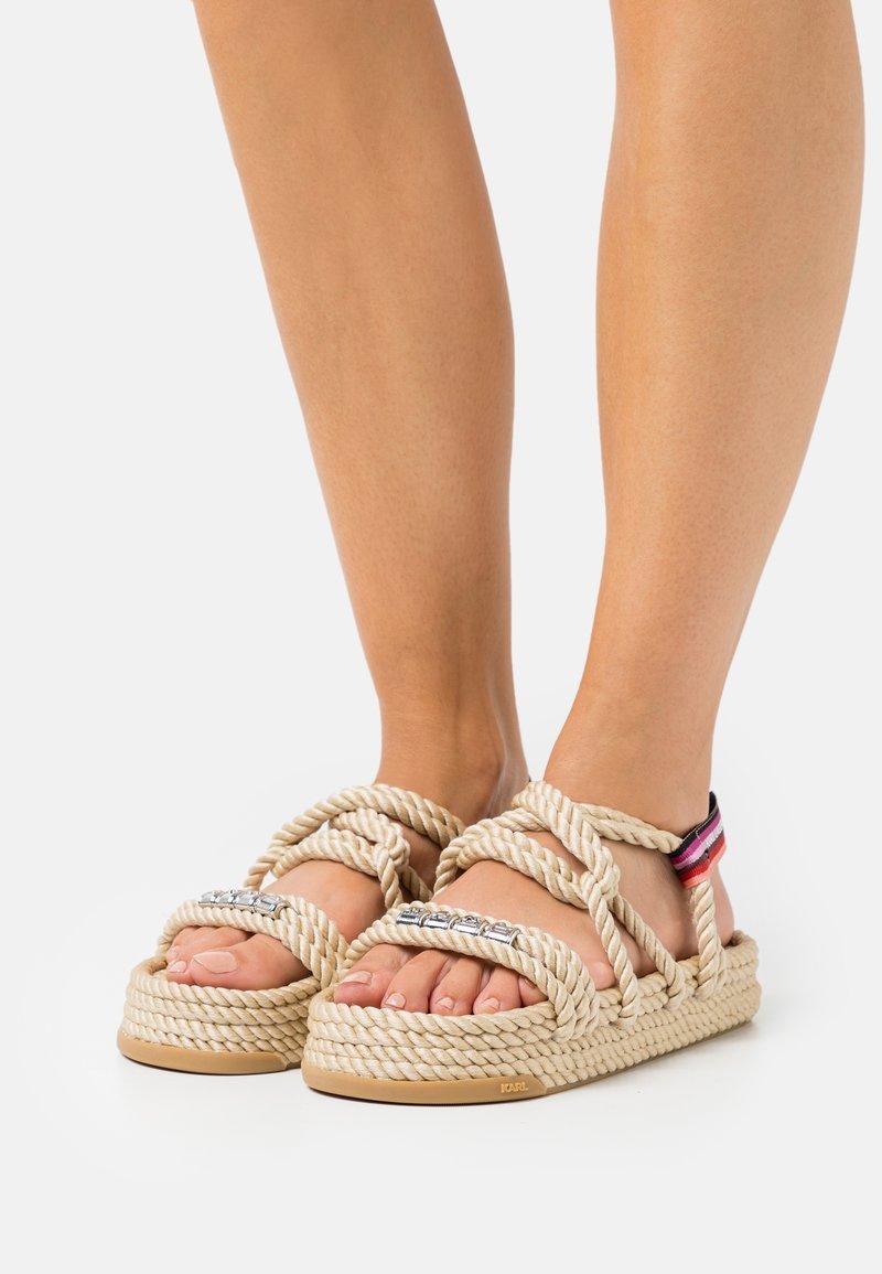 KARL LAGERFELD - RAPALLA  - Platform sandals - beige