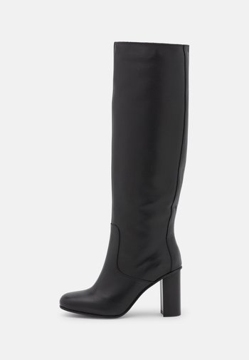 SQARE TOE BOOT - Boots med høye hæler - black