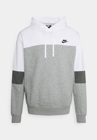 Nike Sportswear - HOODIE  - Sweatshirt - white/grey heather/charcoal heather - 0