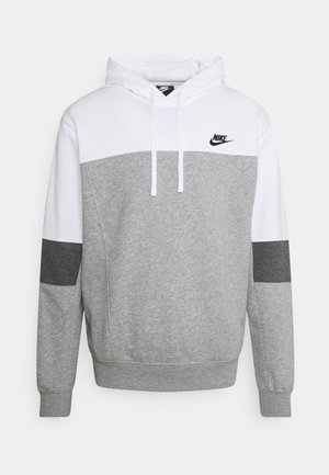 HOODIE  - Felpa - white/grey heather/charcoal heather