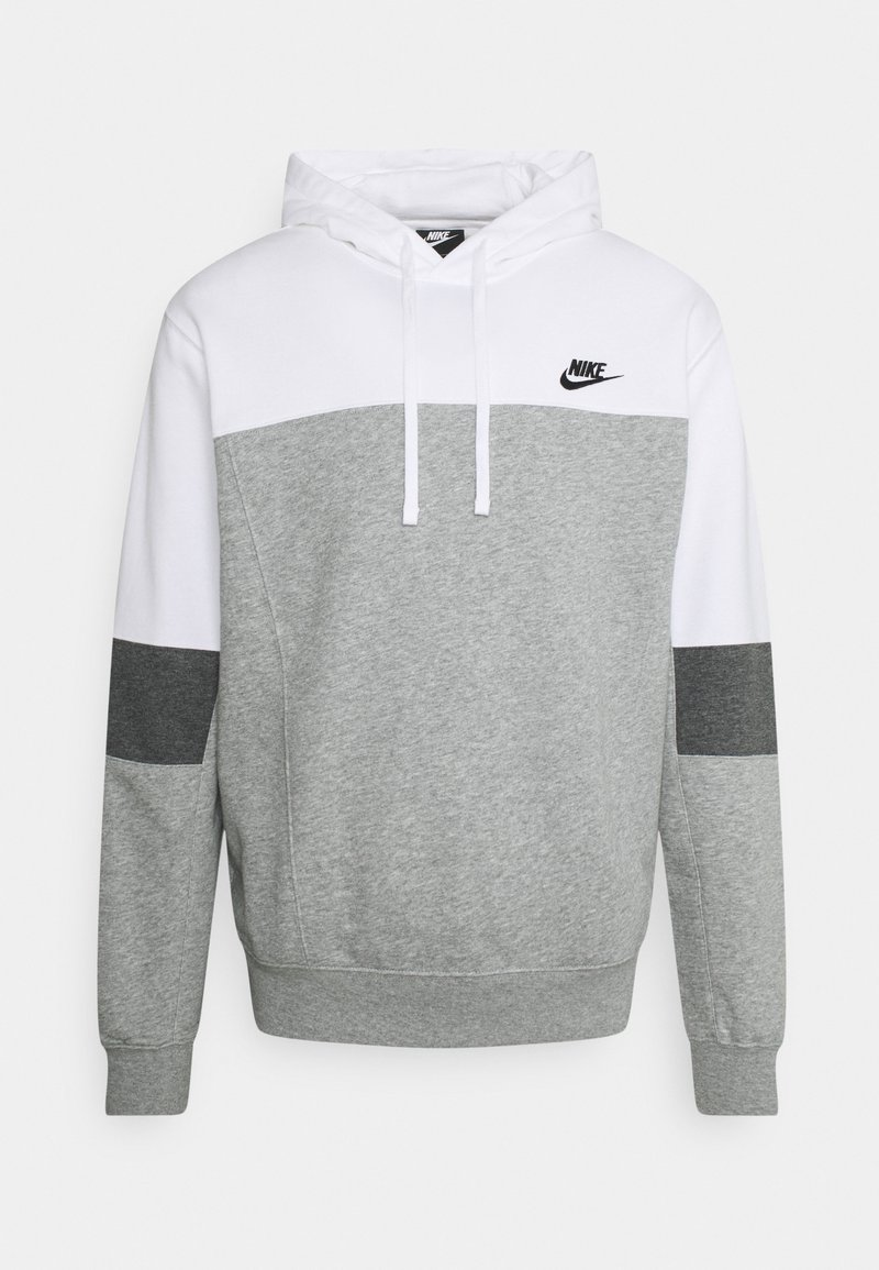 Nike Sportswear - HOODIE  - Sweatshirt - white/grey heather/charcoal heather
