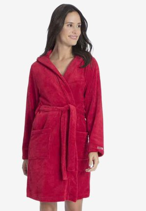 MIT KAPUZE - Dressing gown - rosso