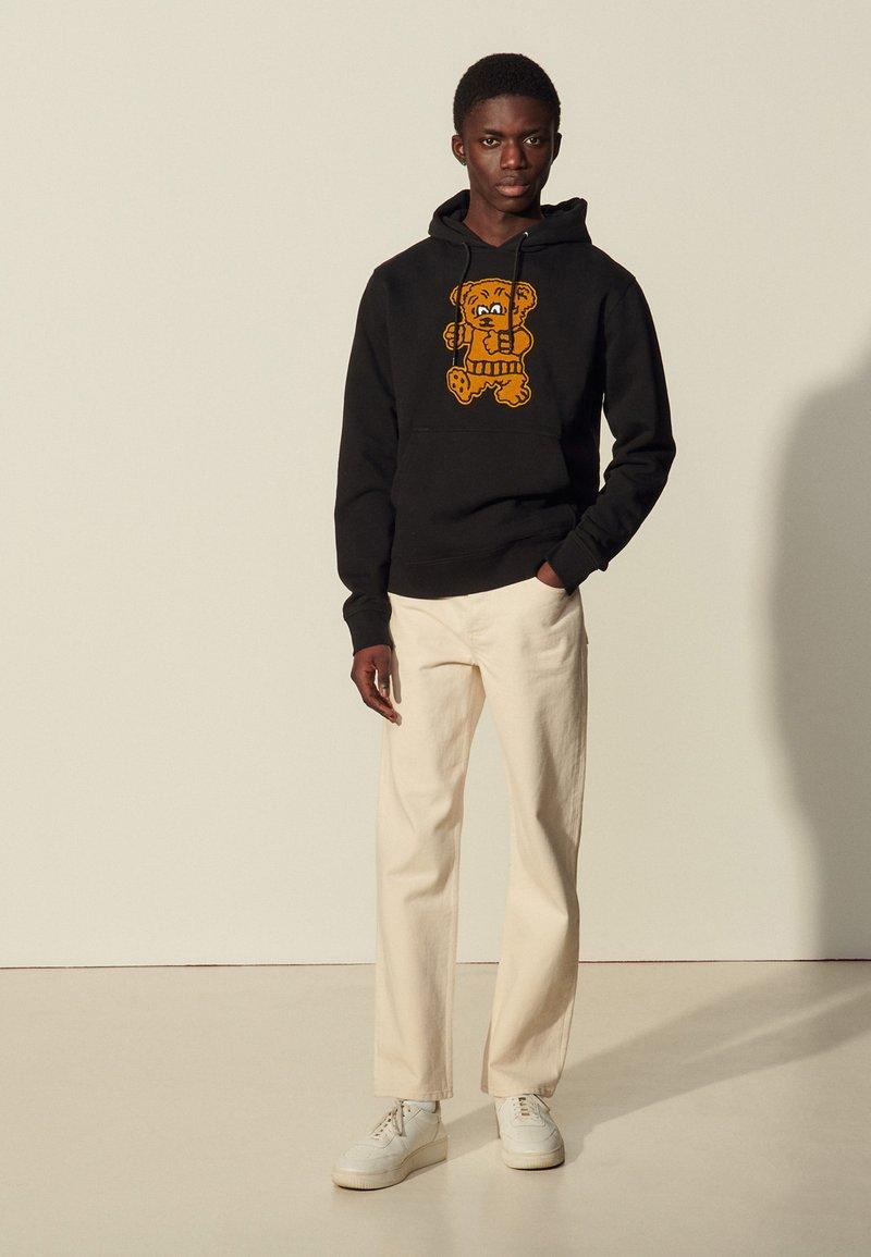 sandro - HOODIE TEDDY - Sweatshirt - noir