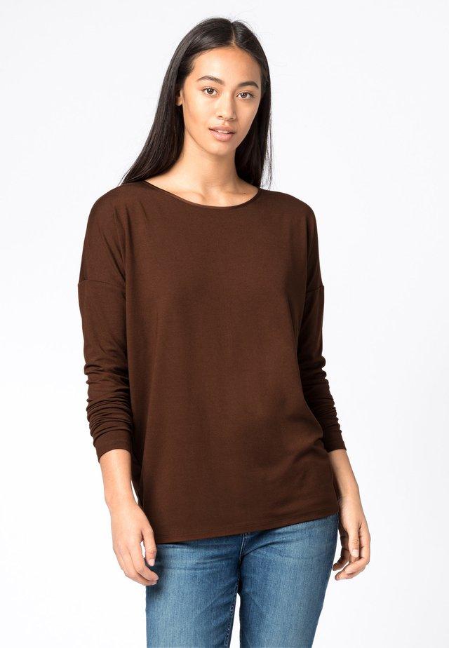 T-shirt à manches longues - cognac