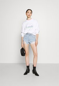 Abrand Jeans - HIGH RELAXED - Short en jean - salty stone - 1