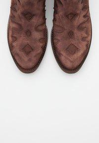 Kanna - Cowboy/biker ankle boot - brown - 5