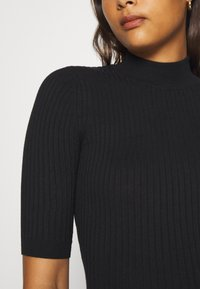 Even&Odd - BASIC- elbow sleeve jumper - Pullover - black - 5