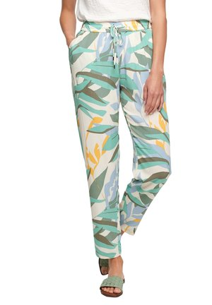 Trousers - turquoise aop