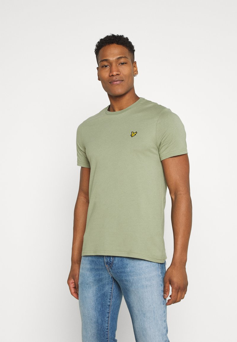 Lyle & Scott - PLAIN - T-shirt - bas - moss
