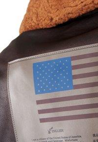 TOP GUN - Leather jacket - braun - 3