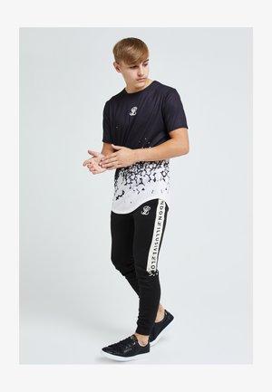 ILLUSIVE ERUPT FADE - T-Shirt print - black & cream