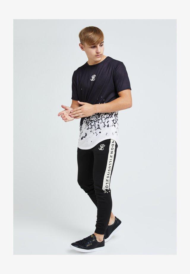 ILLUSIVE ERUPT FADE - Print T-shirt - black & cream