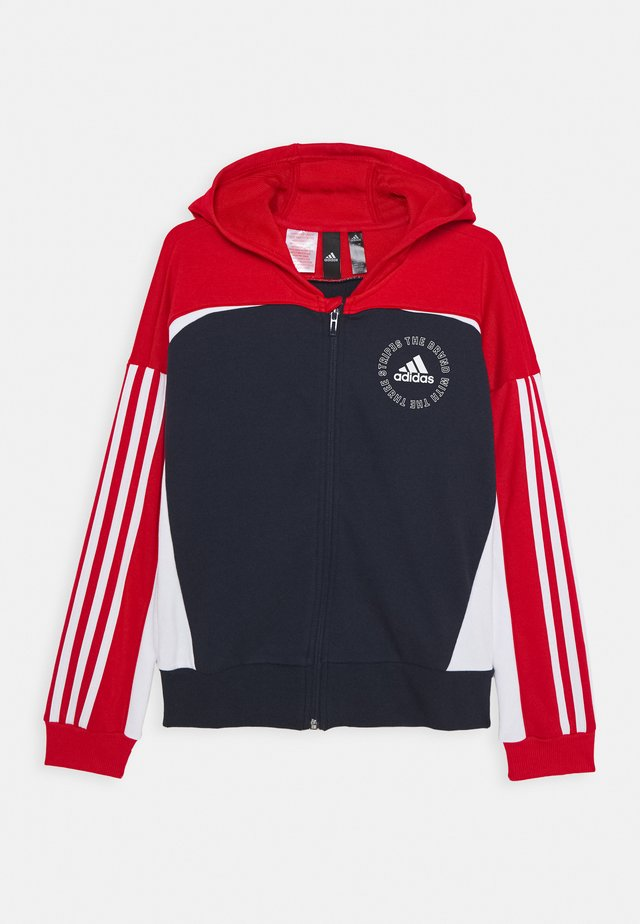 BOLD  - veste en sweat zippée - red/dark blue